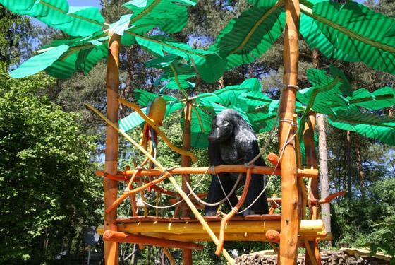 Unser Gorilla überwacht das Treiben
