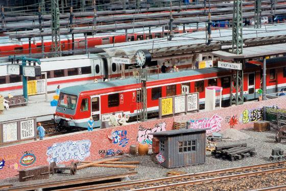 Grafiitti Züge ©Miniaturwunderland
